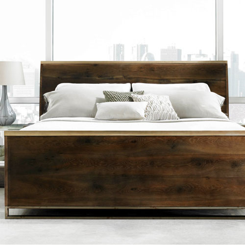 TS-002 / Modern Artisan Dark Bedroom Set (K, Q)